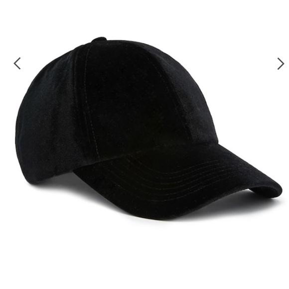 8c3962000 Gap Black Velvet Baseball Cap NWT